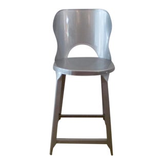 Vintge Industrail Cottage Shabby Chic Metal Stool