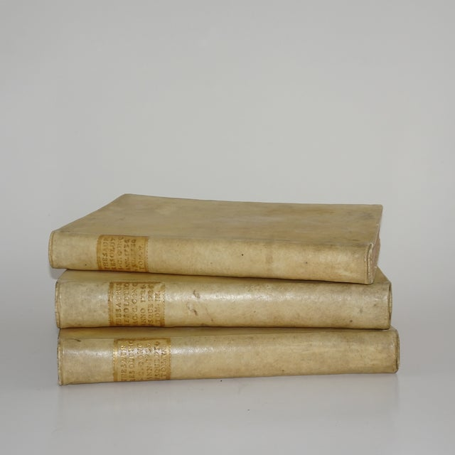 White 18th Century Vellum Books - Set of 3 For Sale - Image 8 of 8