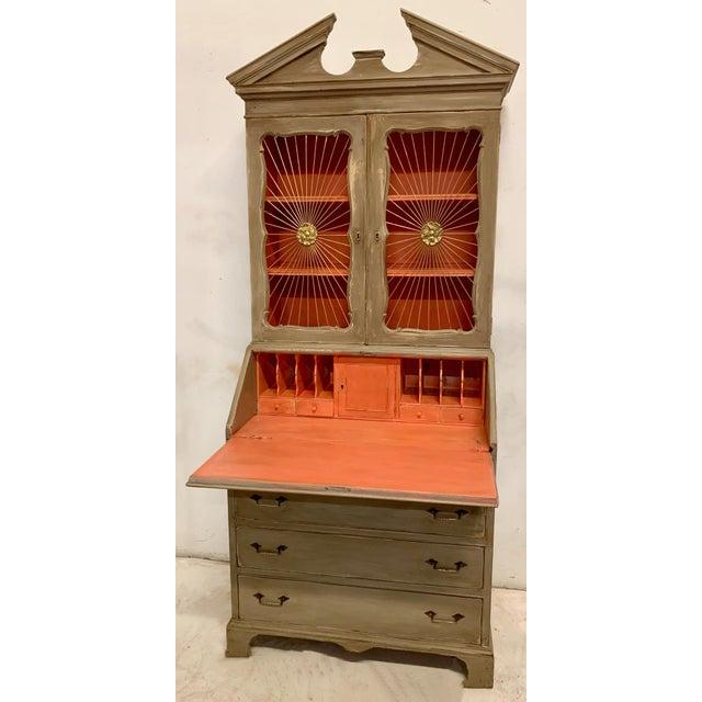 John Widdicomb Sunburst Front Secretary Desk For Sale - Image 9 of 11