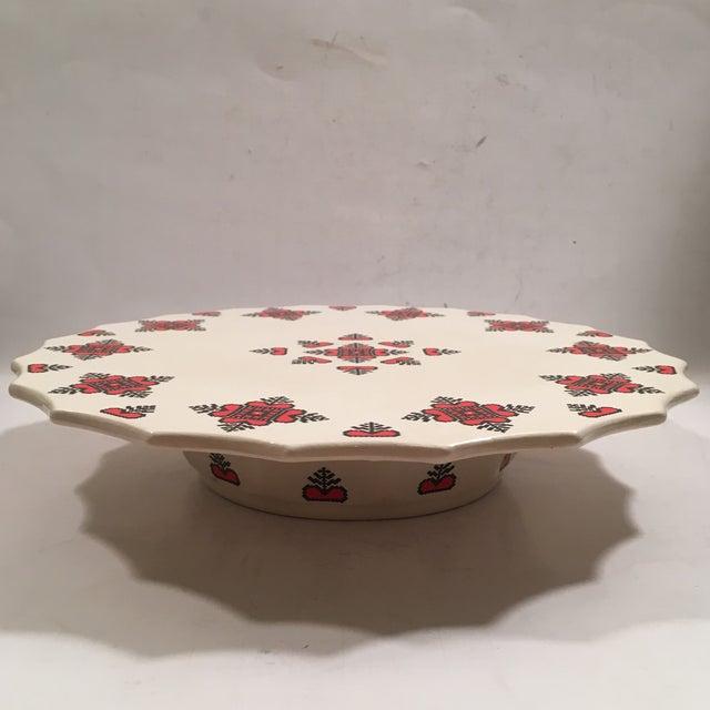 Retro Christmas Ceramic Cake or Cookie Stand - Image 2 of 8
