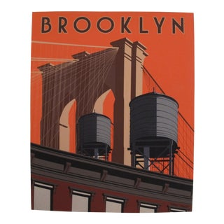 Brooklyn Skyline, Artist Signed Contemporary Poster For Sale