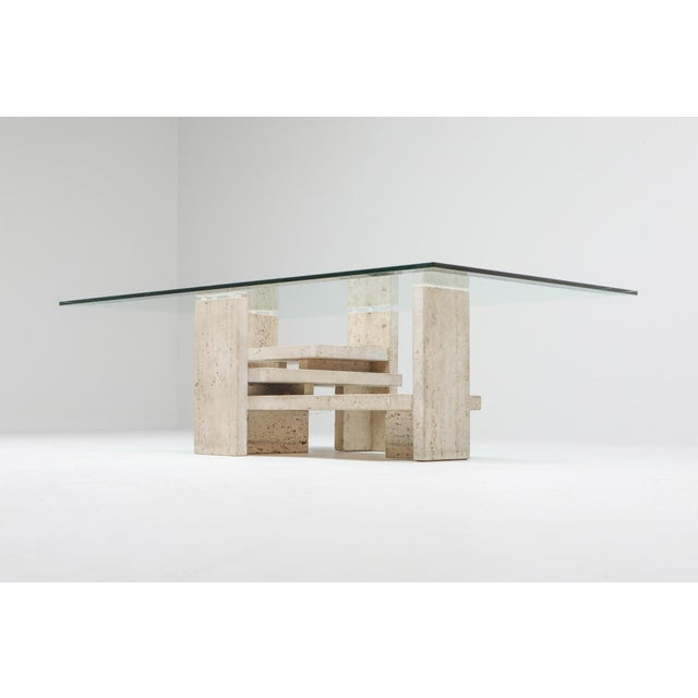 Travertine Postmodern Coffee Table - 1970s For Sale - Image 4 of 10