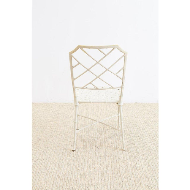 Brown Jordan Brown Jordan Calcutta Faux Bamboo Garden Chairs For Sale - Image 4 of 13