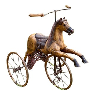Folk Art Child's Bicycle in the Shape of a Horse For Sale
