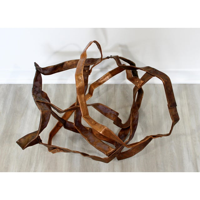 Contemporary Contemporary Forged Copper Abstract Table Floor Sculpture Signed Hansen 2019 For Sale - Image 3 of 8