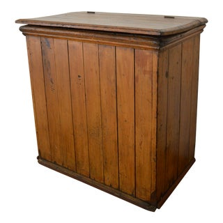 Early 20th Century Primitive Wooden Feed Box/Trunk For Sale