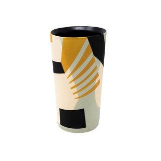 Mid-Century Style Handmade Ceramic Tumbler - Mint For Sale