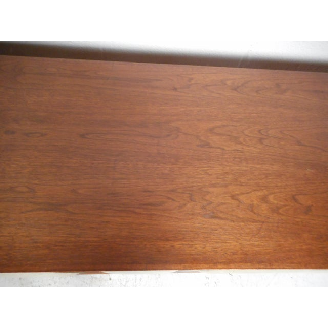 Vintage Modern Walnut Credenza With an Upholstered Front For Sale - Image 10 of 11