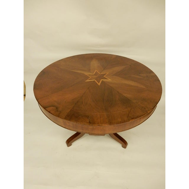 Walnut 19th C. Northern European Center Hall Table For Sale - Image 7 of 7