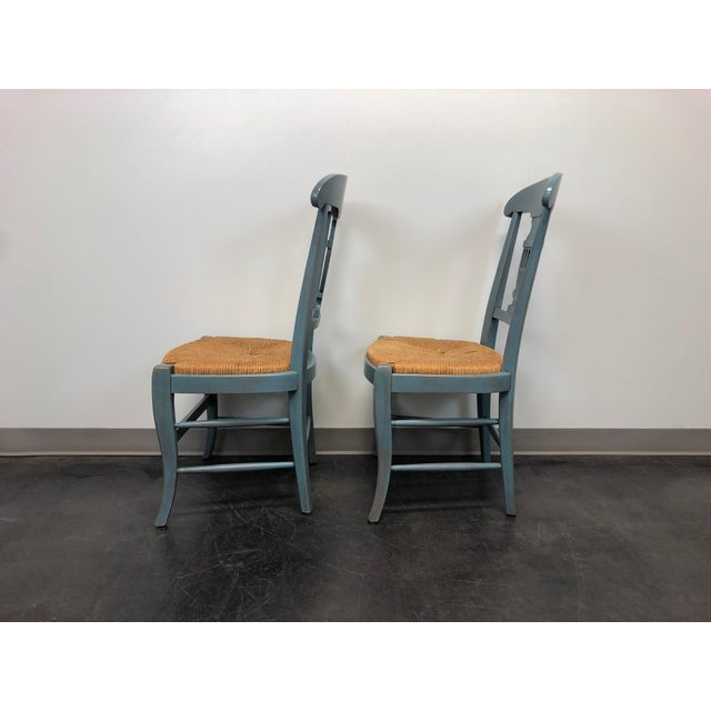 Country Cottage Shabby Chic Painted Distressed Dining Chairs - Pair 2 For Sale In Charlotte - Image 6 of 11