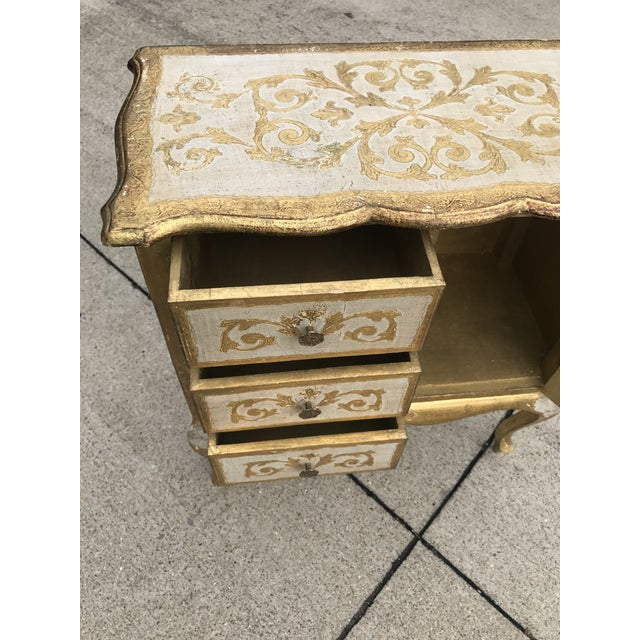 Italian Italian Florentine Gold Cabinet For Sale - Image 3 of 6