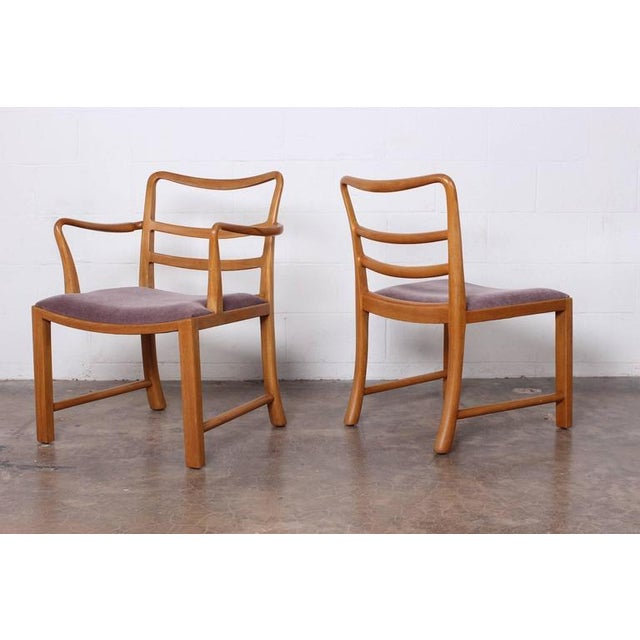 Mahogany Set of Eight Dining Chairs by Edward Wormley for Dunbar For Sale - Image 7 of 10