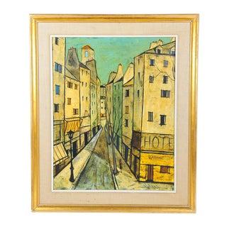 Charles Levier - Paris Street Scene - Oil Painting