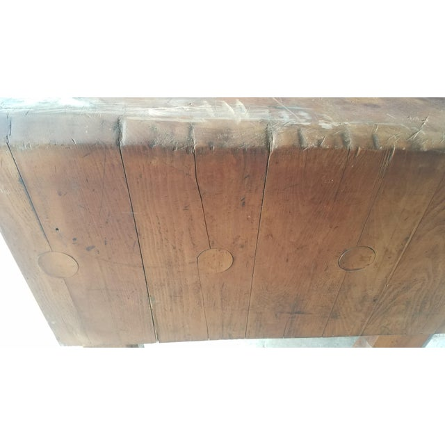 Early 20th Century Early 20th Century Antique Butcher Block For Sale - Image 5 of 13