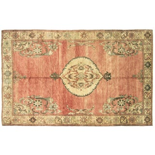 "Nalbandian - 1960s Turkish Oushak Rug - 6'5"" X 10'4"" For Sale"