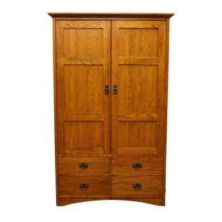 20th Century Traditional Thomasville Furniture Impressions Collection Media Armoire For Sale