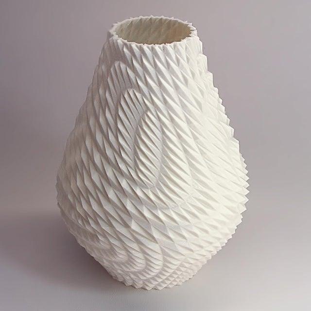 Triangle Grid 3d Printed Plastic Vase Chairish