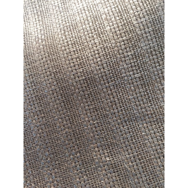 Contemporary Designer's Guild Silver Sassiere Linen - 1.7 Yds For Sale - Image 3 of 9