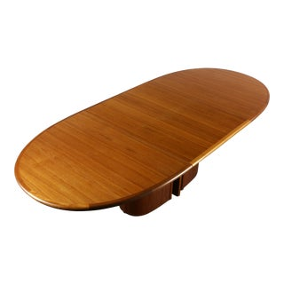 Oval Skovby Dining Table with Butterfly Leaf in Rich Teak, Denmark For Sale