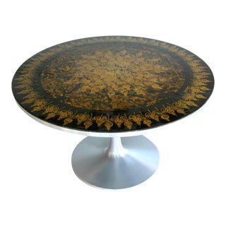 Poul Cadovius 1960s Dining Table in Aluminum Decorated by Susanne Fjeldsøe For Sale