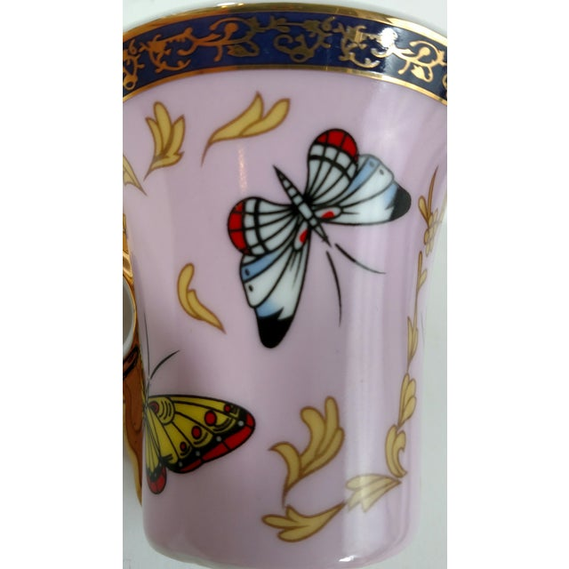 Porcelain Butterfly Cups & Saucers - S/6 - Image 8 of 8
