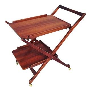 Mid-Century Teak Folding Cart