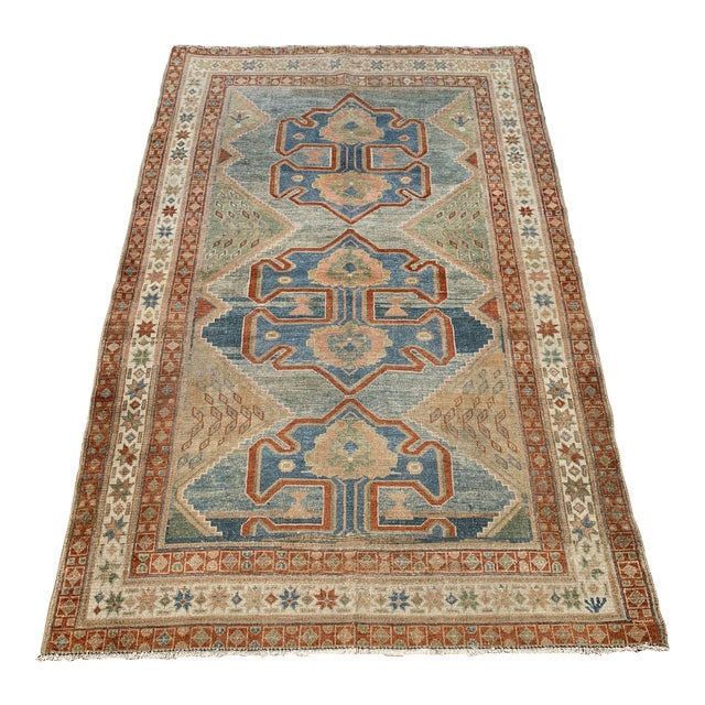 """Bellwether Rugs Antique Persian Malayer Rug - 4'1"""" X 6'2"""" For Sale"""