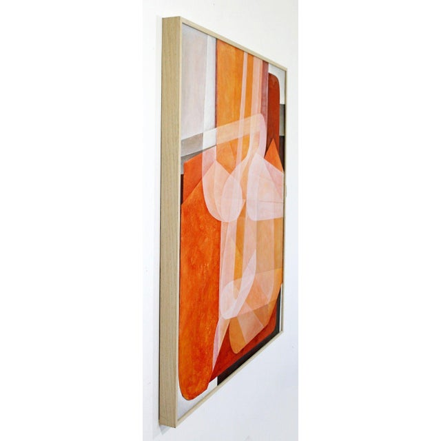 1970s Mid-Century Modern Abstract Carl Angevine Acrylic Painting Detroit Artist For Sale In Detroit - Image 6 of 12