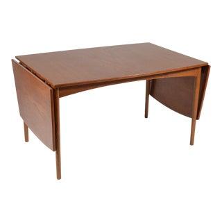 Teak Drop-Leaf Table by Børge Mogensen For Sale