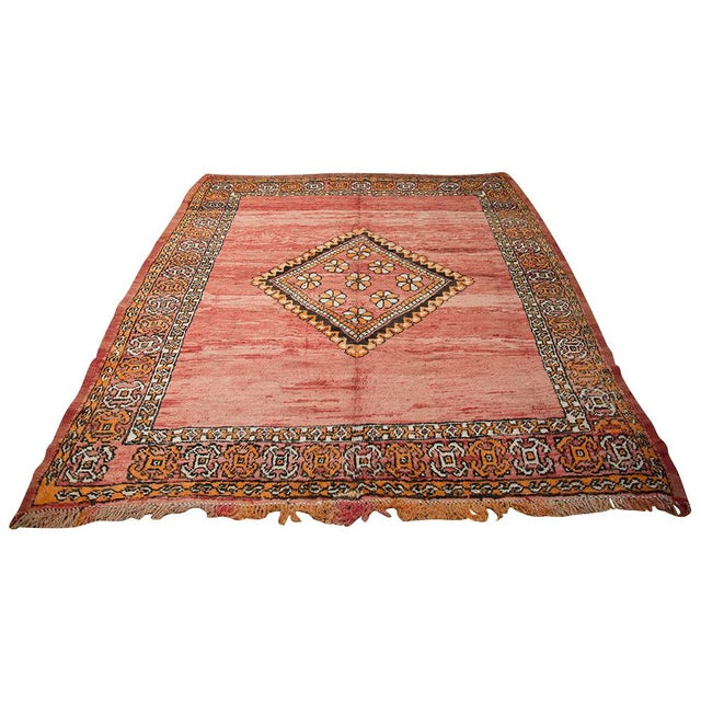 "Red Moroccan Taznakht Rug - 6'7"" X 8' - Image 2 of 8"