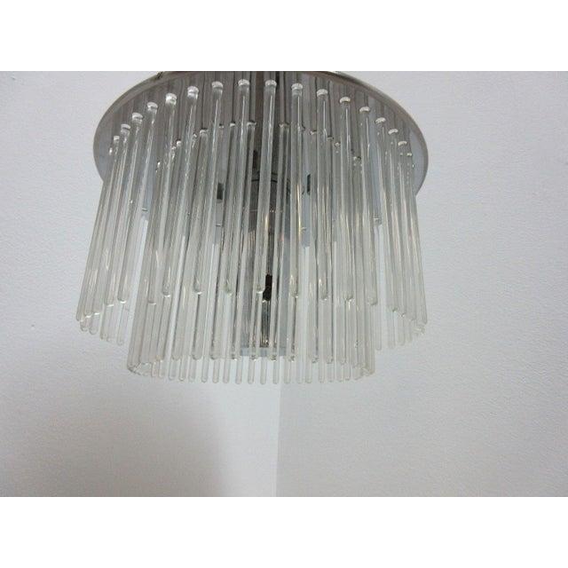 Lightolier Mid-Century Lightolier Swizzle Stick Hanging Chandelier For Sale - Image 4 of 9