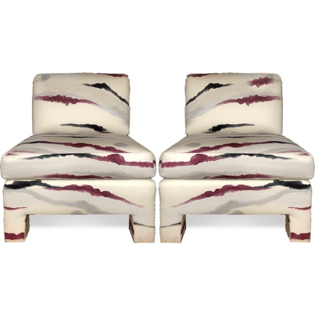 Modern Sherrill Furniture Slipper Chairs- a Pair For Sale - Image 9 of 9
