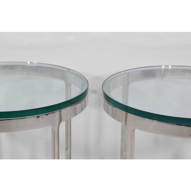 Mid-Century Modern Nicos Zographos Side Tables - A Pair For Sale - Image 3 of 9