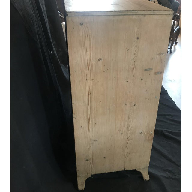 Antique British Scrubbed Pine Chest of Drawers For Sale In Portland, ME - Image 6 of 9