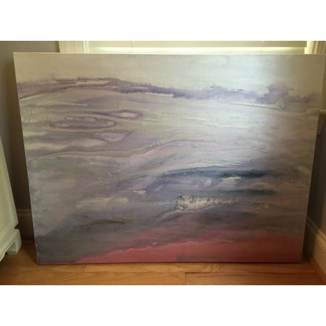"""Quartz"" Painting on Canvas by E. Maynard For Sale - Image 5 of 7"