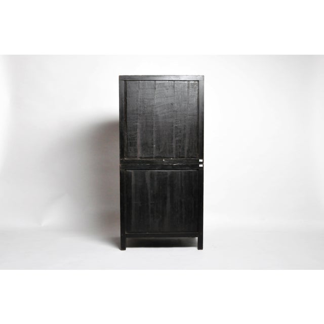 Mid 19th Century Chinese Lattice Kitchen Cabinet With Original Patina For Sale - Image 4 of 13