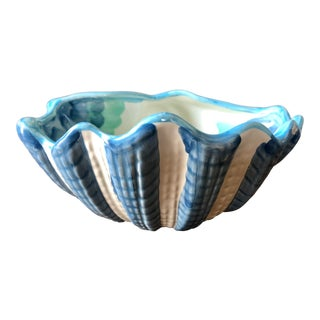 Vintage Bellini Italian Pottery Shell Bowl For Sale