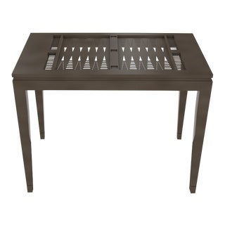 Oomph Backgammon Outdoor Table, Dark Gray For Sale