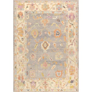 Pasargad Home Turkish Oushak Wool Area Rug -10′2″ × 14′2″ For Sale