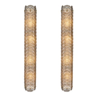 Textured Murano Glass Sconces - A Pair