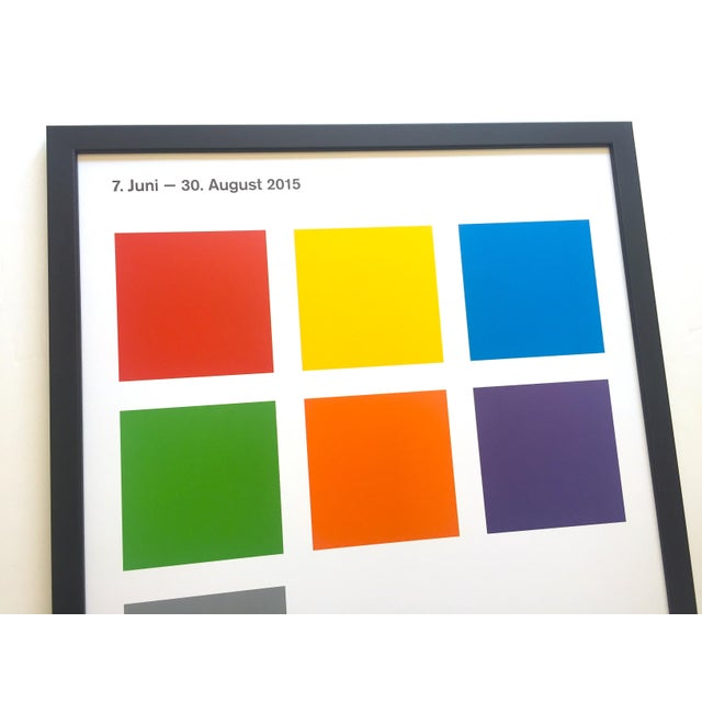 Sol LeWitt Lithograph Print Josef Albers Museum Framed Minimalist Exhibition Poster For Sale - Image 9 of 13