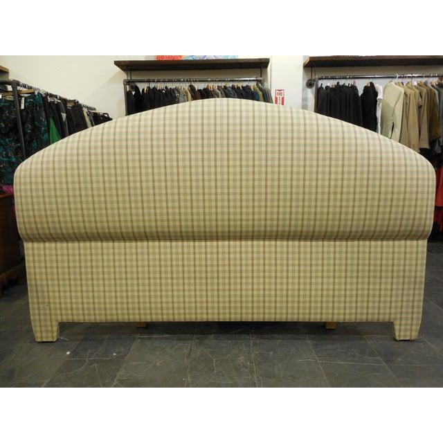 Upholstered Plaid King Headboard - Image 2 of 5