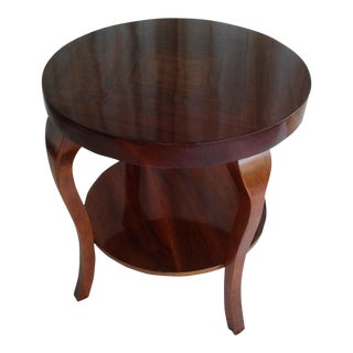 1940s Hungarian Art Deco Walnut Table
