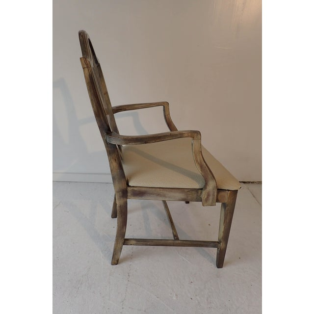 Mahogany Duncan Phyfe Style Side Chair Distressed Decor Finish 38.5H x 23D x 24W For Sale - Image 7 of 9