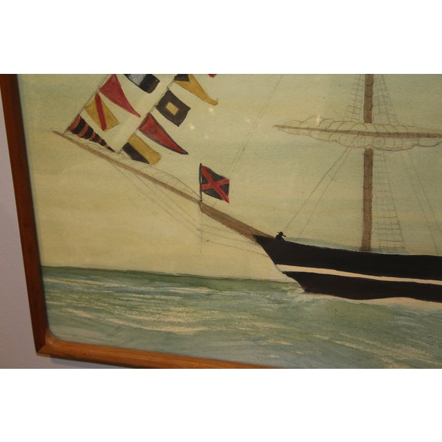 Dress Ship Watercolor by Mary Maguire - Image 6 of 6