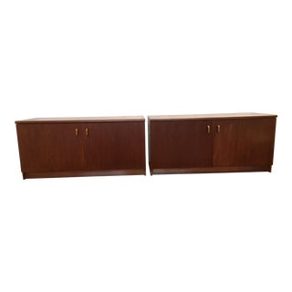 Mid-Century Credenza/Cabinets - A Pair For Sale