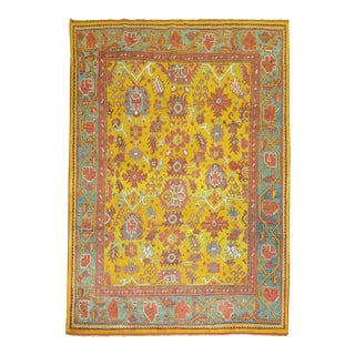 Antique Turkish Oushak Rug, 7; X 9; For Sale