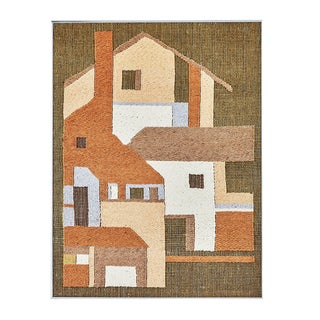 Vintage Woven Textile Wall Art For Sale