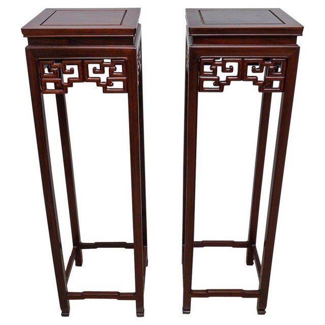 Chinese Rosewood Pedestals For Sale - Image 13 of 13