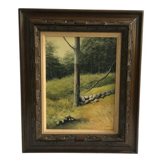 Oil on Canvas of Serene Country Landscape by Burr